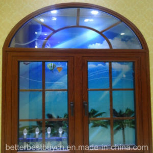 Best Price Ce Approved UPVC Casement Window with Decorative Strip pictures & photos