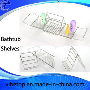Best Prices Bathtub Caddy Tray, Bathtub Rack with Extending Sides pictures & photos