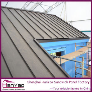 Customized Metal Standing Seam Roof Tile with Concealed Gutter pictures & photos