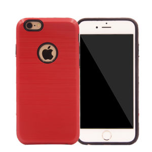 Wire Drawing Steel 2 in 1 PC+TPU Hard Solid Phone Case for iPhone 7 7plus (XSEH-005)