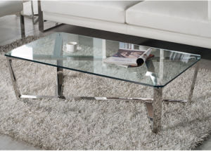 High End Stainless Steel Glass Coffee Table Set (CCT-028) pictures & photos