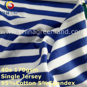 Cotton Spandex Stripe Yarn Dyed Jersey Fabric for T-Shirt Garment Textile (GLLML268) pictures & photos
