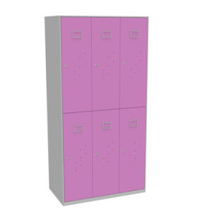 6 Door Metal Storage Wardrobe with Shelves Inside pictures & photos