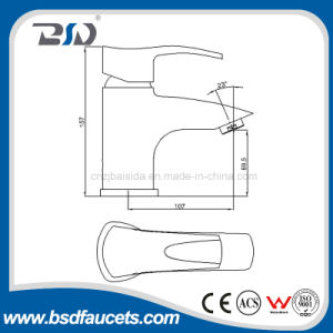Single Lever Modern Designed Water Saving Casting Brass Basin Faucet pictures & photos