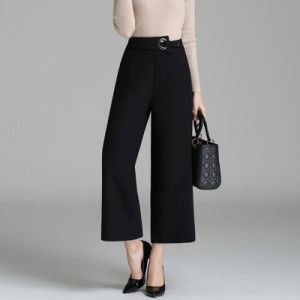 Fashion Womens Winter Trousers Ladies Wide Leg Pants pictures & photos