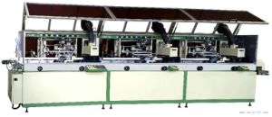 Automatic 3-Colour Cylinder UV Screen Printer Lcb-120UV-3 Cylinder Screen Printer
