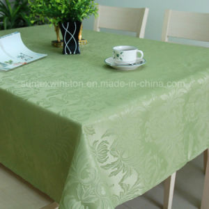 100%Polyester Solid Jacquard Tablecloth/Runner/Placemat pictures & photos