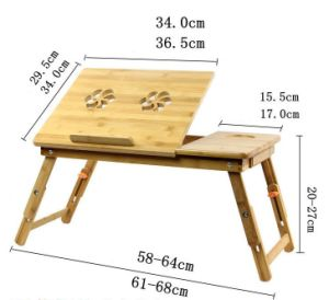 Adjustable Bamboo Computer Laptop Desk Foldable Computer Table pictures & photos
