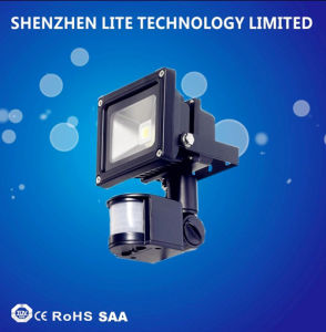 Factory Wholesale PIR 10W 30W 50W 70W LED Floodlight pictures & photos