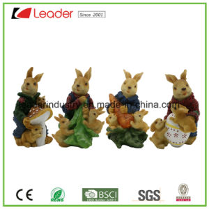 Lovely 43cm Rabbit Resin Statue Garden Ornament for Home and Lawn Deocration pictures & photos