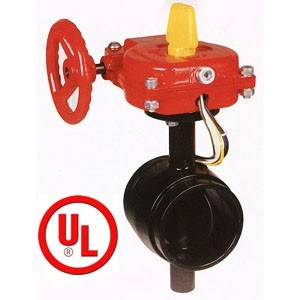 UL/FM Grooved Type Butterfly Valve, UL, Ulc Listed, FM Approved