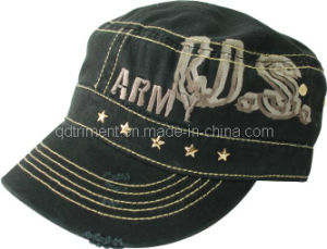 Grinding Washed Distressed Print Camouflage Army Military Cap (TRNM022) pictures & photos
