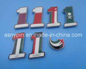 Middle East Country Flag Badge Pin for 2016 National Day pictures & photos