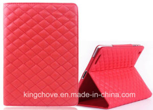 a New Design Fashion Stitching Sheep Skin Leather for iPad Cover (KCI18) pictures & photos