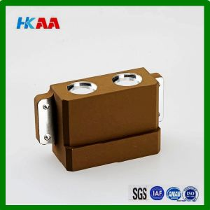 CNC Milling Machining Solid Aluminum Block, Anodized Drilled Block pictures & photos