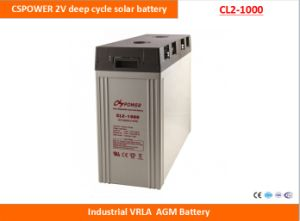 Cspower 2V1000ah Deep Cycle AGM Battery for Solar Power System, China Manufacturer pictures & photos