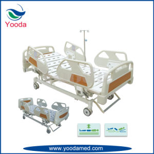 Foldable Steel Side Rail Five Function Electric Medical Bed pictures & photos