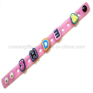 Promotinonal Customized Soft PVC Bracelet with Charms (BR027) pictures & photos