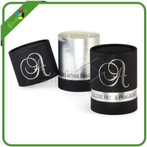 Customized Cylinder Box for Candle with Hot Stamp Printing pictures & photos