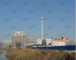 Telecommunication Monopole Steel Tower pictures & photos