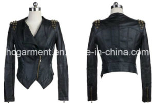 Punk PU Jacket   for Women/Lady   , Leather /Motorcycle Coat pictures & photos