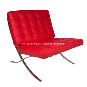 Italian Barcelona Leather Chair in Red Color pictures & photos