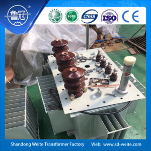 Capacity 100kVA, 10kV/11kv Three Phase Amorphous Alloy Oil-Immersed Distribution Transformer pictures & photos