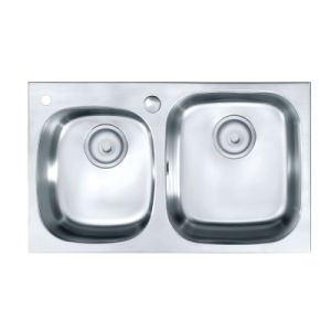 Oppein Undermount Double Bowls Kitchen Sink (OP-PS324-TC) pictures & photos