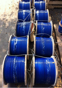 DIN3055/DIN3060 Blue Plastic PVC Coated Galvanized Steel Wire Rope Cable pictures & photos