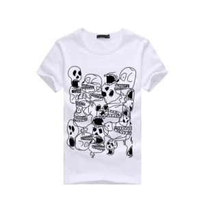 Men Fashion Cute Printed Short Sleeve Cotton T-Shirt pictures & photos