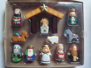 Wooden Carved Nativity Set