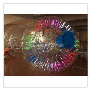 Popular Outdoor Sport Game Inflatable Lighting Zorbing