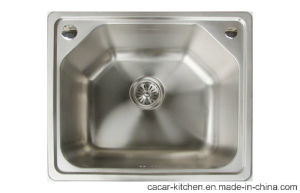 Cacar Contrated Modern Irregular Single Bowl Kitchen Sink (SC5346A) pictures & photos