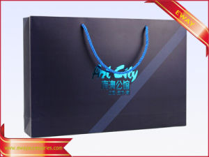 Black Paper Gift Bag Shopping Bag with Metallic Logo pictures & photos