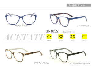 Popular Wholesale Stock Acetate Eyewear Eyeglass Optical Spectacle Frame Sr1655 pictures & photos