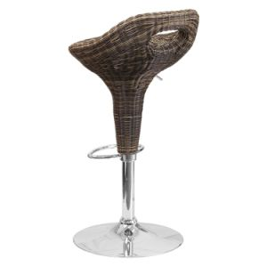 Well Furnir Wicker Seat Furniturer Adjustable-Height Bar Stool pictures & photos