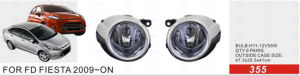 Front Fog Lamp for Ford Fiesta 2009-on