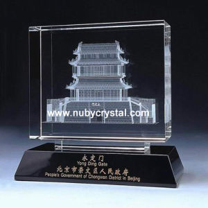Crystal Laser 3D Building Souvenir Gift pictures & photos