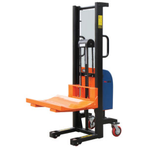 V Shape Plate Hydraulic Electric Roll Lifting Stacker pictures & photos
