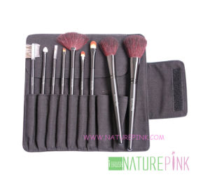 9PCS Professtional Makeup Brush Set with Cosmetic Brush Case