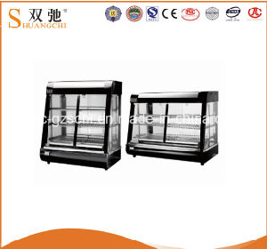 Display Food Warmer Showcase Round Glass Display Counter Pie Warmer pictures & photos