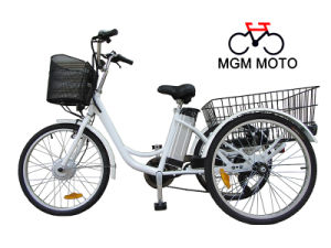 24 Inch New Deisgn Fashion Bike Adults Cargo Electric Tricycle with En15194 pictures & photos