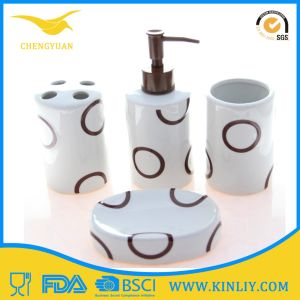 SGS Certification Ceramic Bath Set Lotion Dispenser Bathroom Accessory pictures & photos