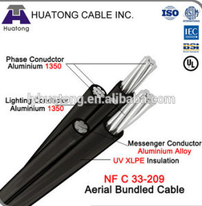 PVC/XLPE Overhead Aluminum Conductor Aerial Bundle Cable ABC Cable pictures & photos