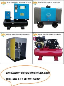 Screw Compressor 37kw/50HP Variable Speed Driven pictures & photos