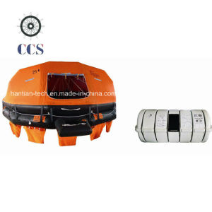 Solas 25 Person Davit Launching Inflatable Life Raft (D25) pictures & photos