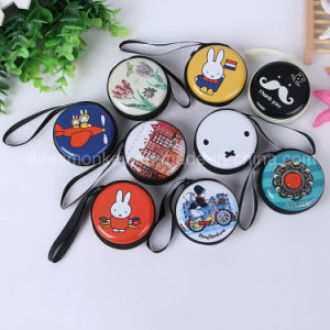Lovely Mini Design with Zipper Round Tin Purse pictures & photos