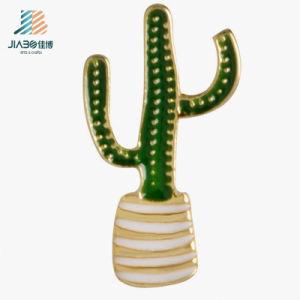 Bulk Item Zinc Alloy Custom Enamel Cactus Pin Lapel pictures & photos
