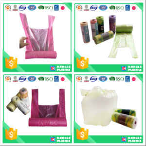 Plastic Flat Bottom T Shirt Garbage Bag on Roll pictures & photos
