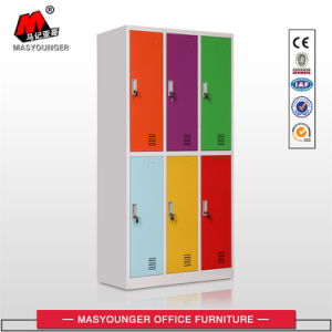 Office Metal Furniture 6 Door Colourful Steel Clothing Cabinet Locker pictures & photos